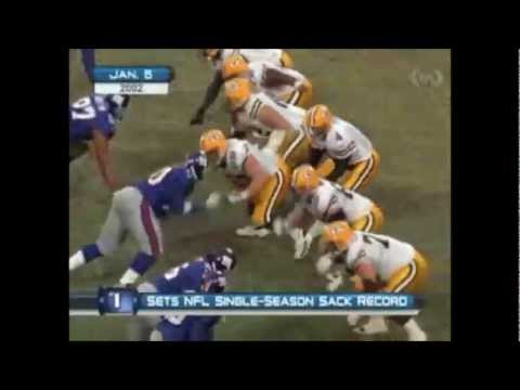 """Video Of Michael Strahan """"Breaking"""" The Sack Record:   The Most Bogus In All Of Sports"""