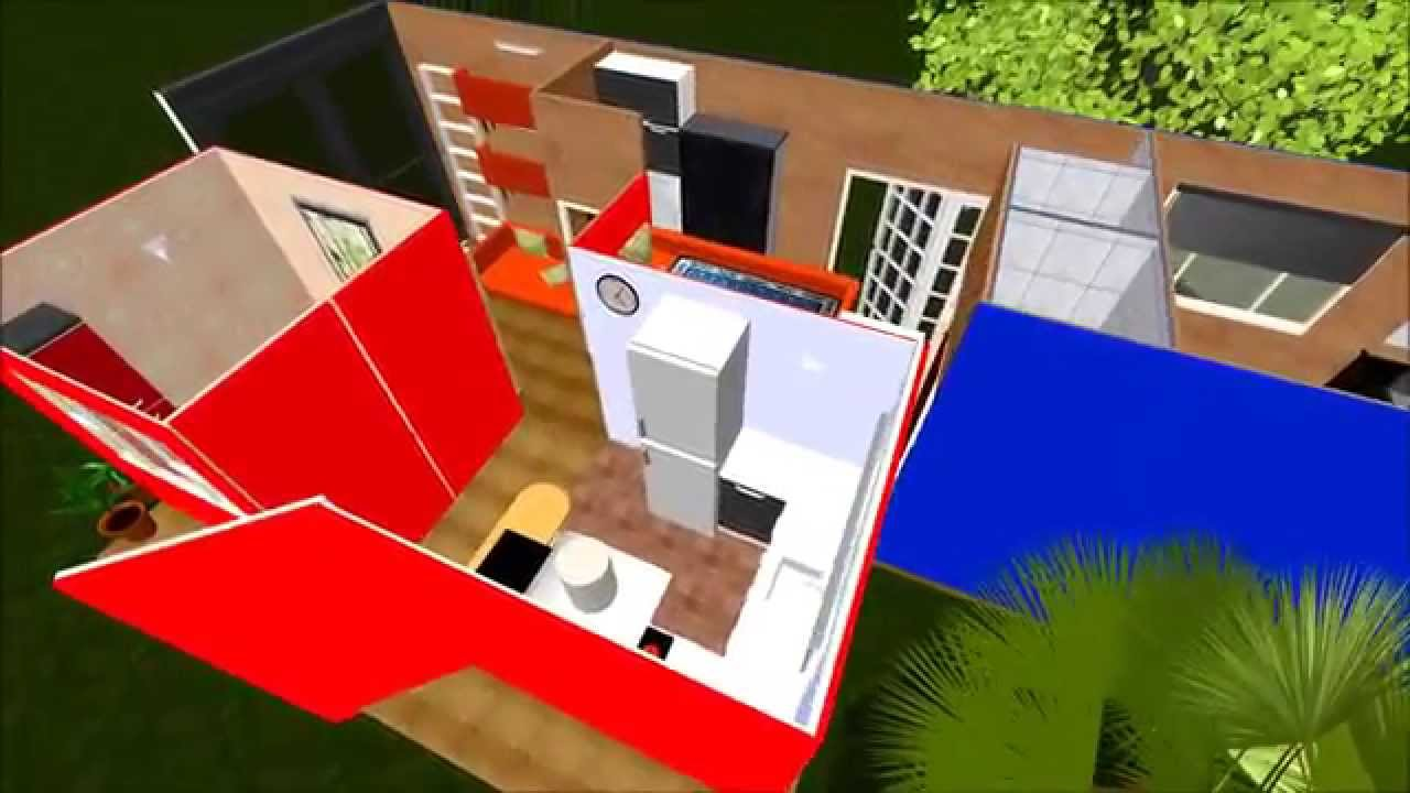 40ft Hicube 2x8ft Shipping Container Home Flyover Virtual Tour