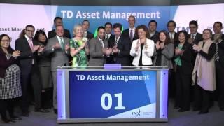 TD Asset Management opens Toronto Stock Exchange, April 4, 2016