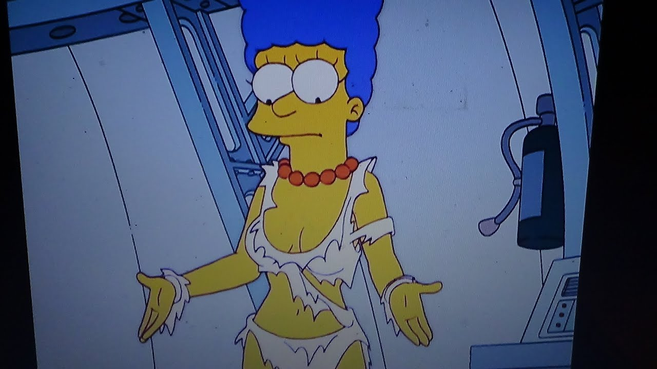 marge from the simpsons naked in thomg