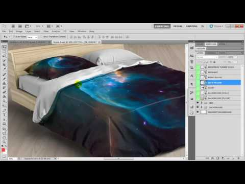 Bed Linens Mock-Up / Bedding Set Template Quick Instruction