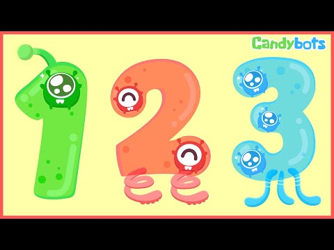 Numbers 123 (Candybots)- Learn to count the number 1 to 100 - Education app for kid