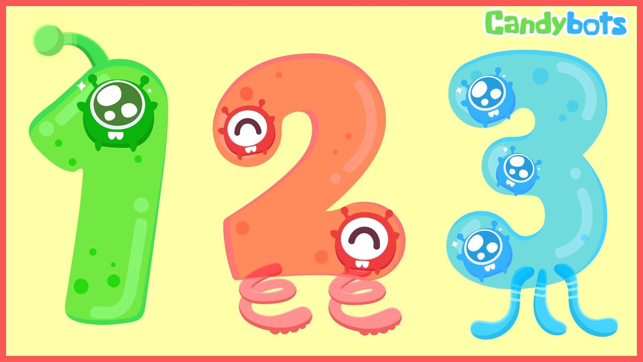 Numbers 123  Candybots - Learn To Count The Number 1 To 100 - Education App For Kid