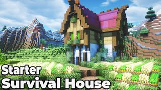 Minecraft 1.15 Colorful Survival Starter House Tutorial [HOW TO BUILD]