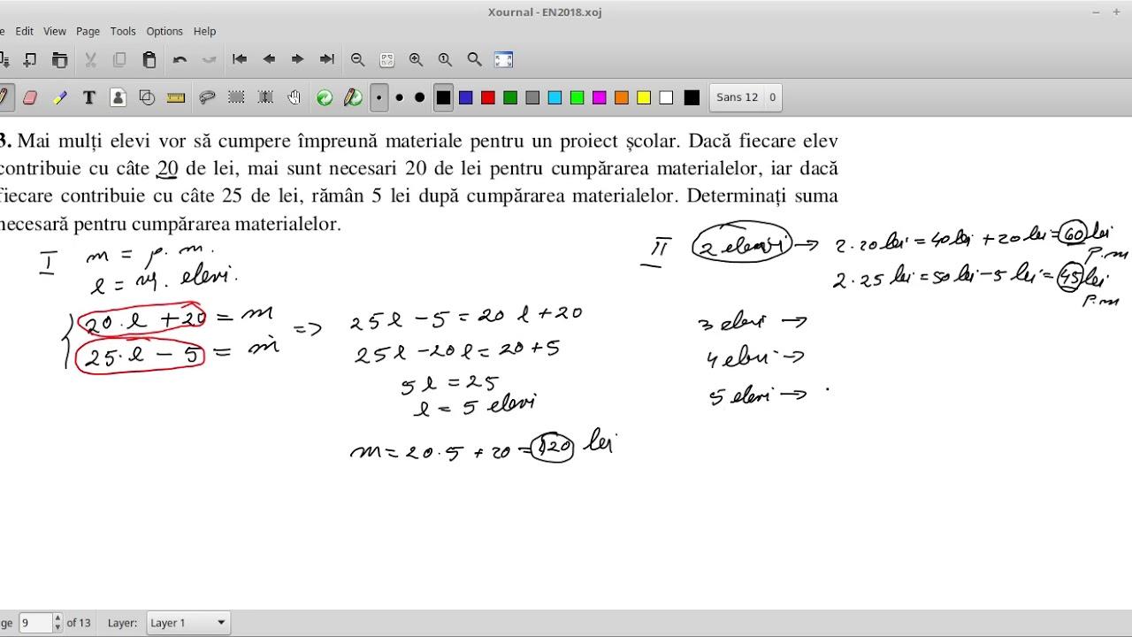 Simulare Clasa A 8 A 2018 Matematica