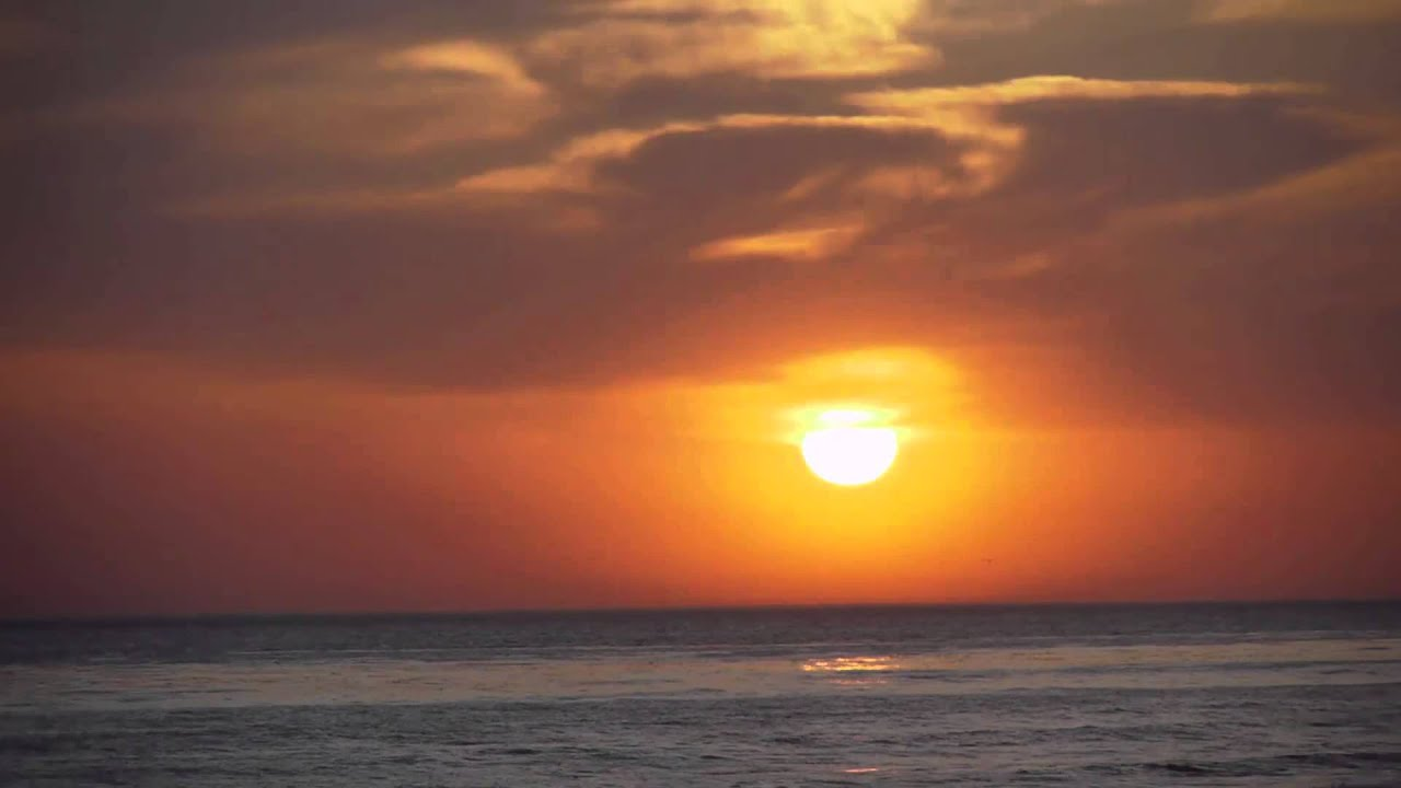 Royalty Free HD Sunset Beach Scene