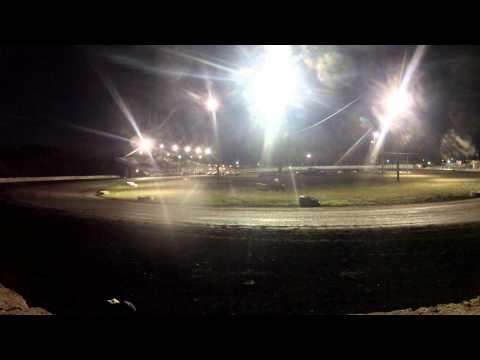 Algona Raceway Ron Hansen Memorial Race Turn 2 IMCA Stock Car 7/21/2012 GoPro Camera