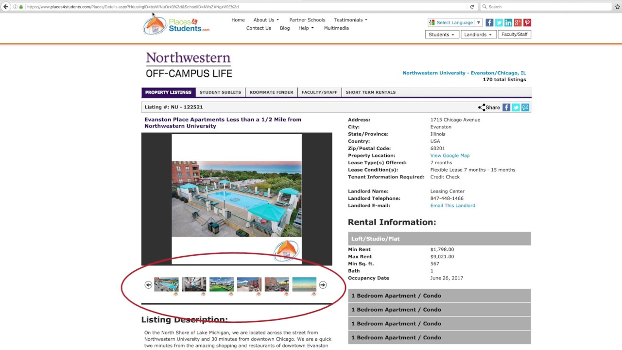 Find Housing : | Northwestern Student Affairs