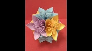DIY How to Fold an Origami Kusudama Flower Ball (Easy Paper Craft)