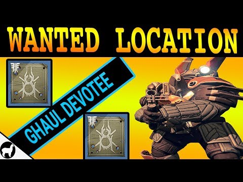 Wanted Ghaul Devotee Location   Lost Oasis IO   Spider Wanted Bounty   Destiny 2 Forsaken