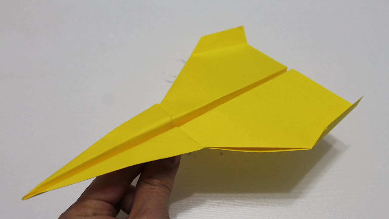 origami facile avion youtube