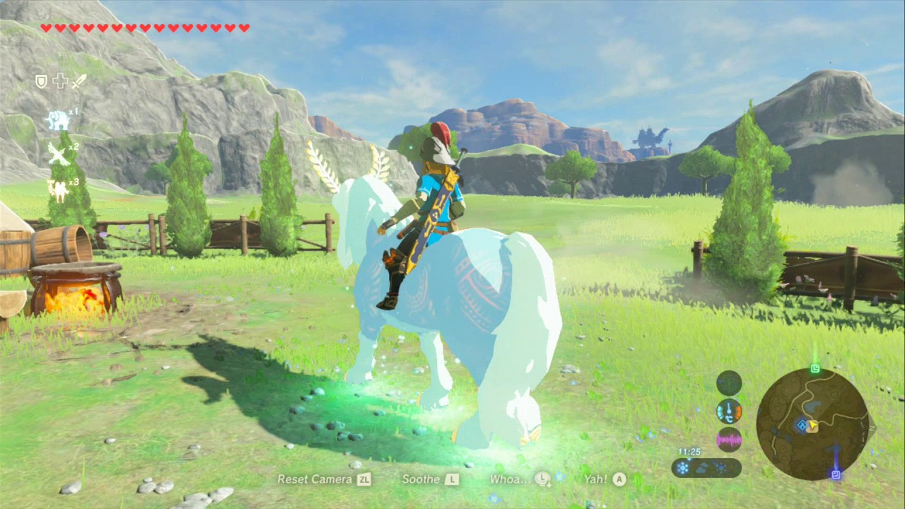 Zelda botw lord of the mountain riding the spirit horse for How to buy a mountain