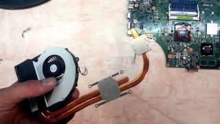 видео Чистка ноутбука ASUS от пыли