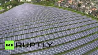 Japan: Drone reveals sheer size of Aikawa Solar Power Plant