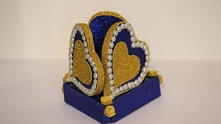 DIY-Best out of waste ideas 2019 Paper Heart Showpiece | How to Make A Paper Heart Showpiece
