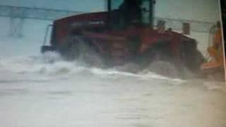case ih stx quadtrack working on the seaside