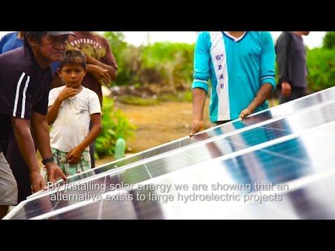 Solar power is working for the Munduruku in Brazil.