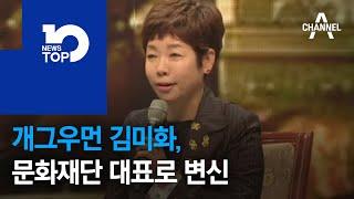 개그우먼 김미화, 문화재단 대표로