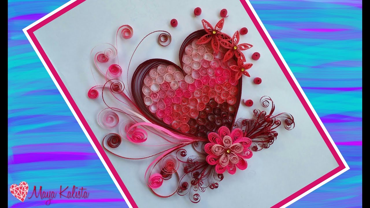 How to make DIY Paper Quilling DESIGNS  Art  Heart designs