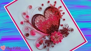 How to make DIY  Paper Quilling DESIGNS - Art / Heart designs / Ideas Tutorial !
