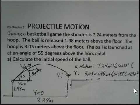 Projectile Motion, Basketball Shot