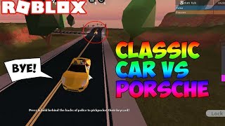 NEW CLASSIC CAR VS PORSCHE IN ROBLOX JAILBREAK!! * NEW MUSEUM UPDATE SPEEDTEST*