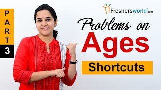 Aptitude Made Easy - Problems on Ages Part-3, Basics and Methods, Examples, Math tricks