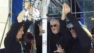 Deep Purple in the snow - having a blast with Jon Lord in 2001