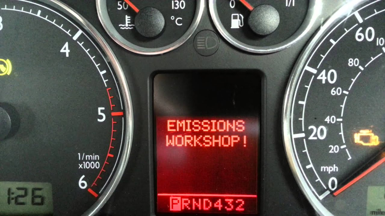 Vw Audi Emissions Workshop Error Code And Check Engine