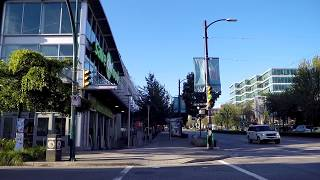 Walking in Vancouver Canada - Cambie Street Early Morning - City Life