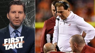 Nick Saban panicked in Alabama loss to Clemson - Will Cain | First Take