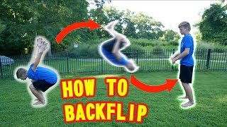 How to do a BACĶFLIP on Ground and Trampoline | BEST TUTORIAL | You can learn in 5 minutes! |