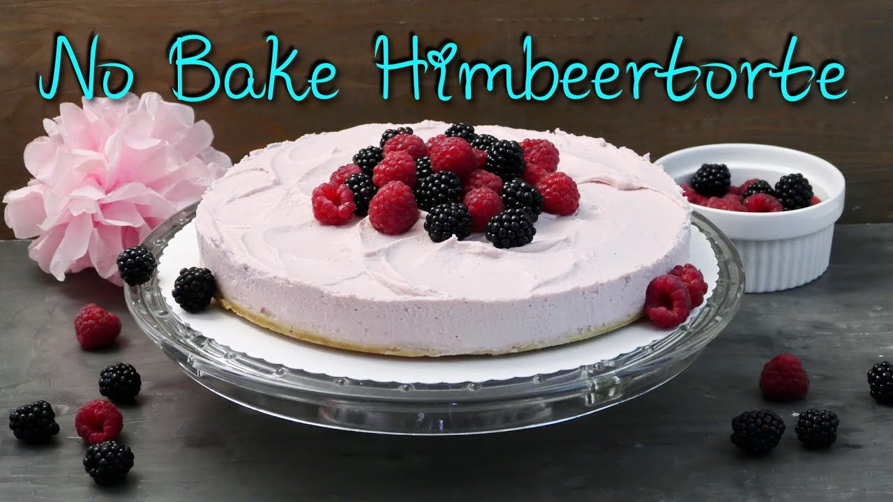 no bake himbeer mascarpone torte kuchen ohne backen selber machen ohne gelatine youtube. Black Bedroom Furniture Sets. Home Design Ideas
