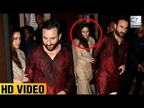 DRUNK Kareena Kapoor Can't Walk Without Saif At Anil Kapoor's Diwali Bash  LehrenTV
