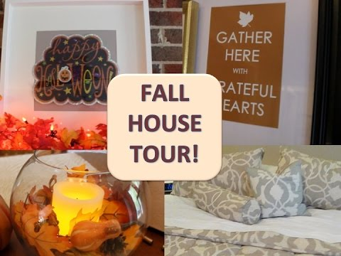 MINI HOUSE TOUR & DOLLAR TREE FALL DECOR! - YouTube