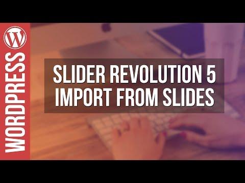 Slider Revolution 5: Import From Slides Tutorial - 동영상