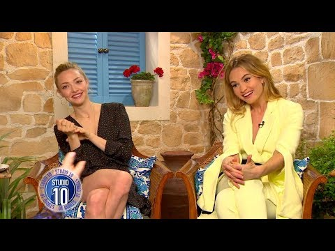 Mamma Mia! 2 Exclusive: Amanda Seyfried, Lily James & Dominic Cooper  Studio 10