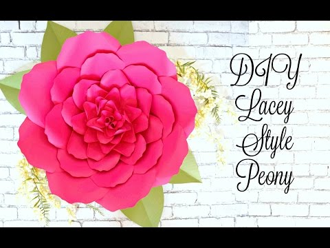DIY Easy Giant Paper Flower Tutorial
