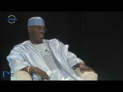 PDP presidential candidate Atiku Abubakar speaks on 'The Candidates'