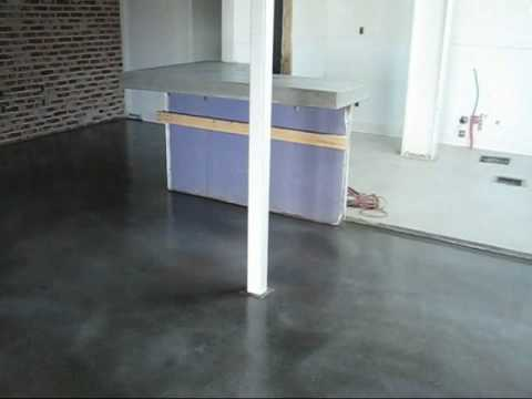 An Old World Antique Finish Concrete Overlay Floor At A