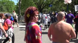Candy Samples AIDS Walk New York footage
