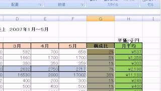 小数点 「エクセル2007(Excel2007)動画解説」