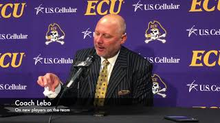 Press Conference - Coach Lebo