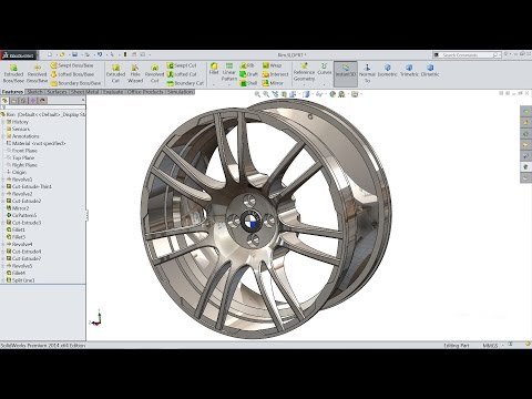 Solidworks tutorial   sketch Wheel Rim in Solidworks