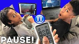 PAUSE Challenge for 24 Hours!!