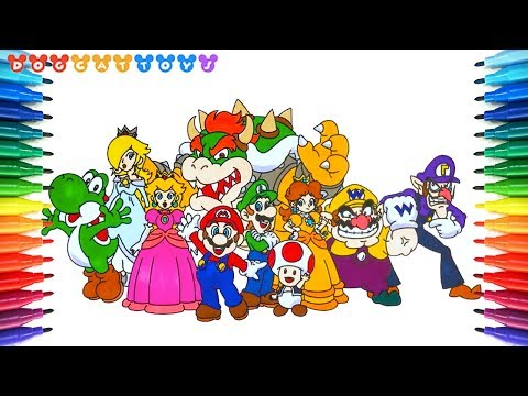 How to Draw Super Mario Characters #200 | Drawing Coloring Pages Videos for Kids