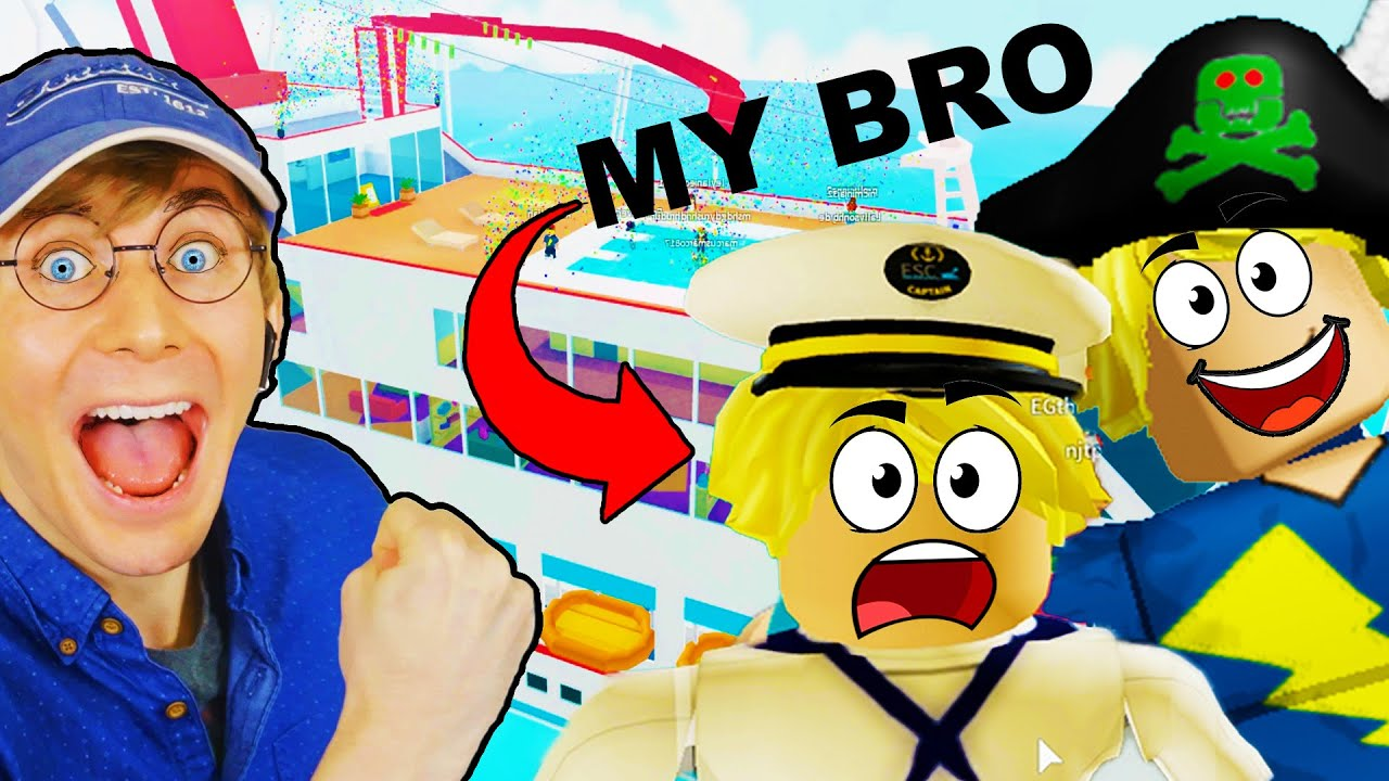 I FOUND MY LONG LOST BROTHER!!! Can We Survive Ghost Pirates? (Roblox Cruise Story)
