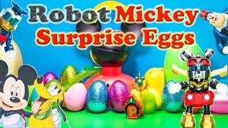 MICKEY MOUSE CLUBHOUSE Surprise Eggs with Robots and Friends