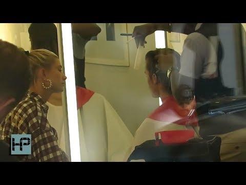 Hailey Baldwin Takes Justin Bieber to Get a Haircut