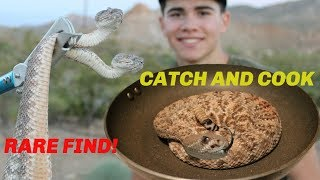 Catch and Cook Rattlesnake with SUPER RARE Find! thumbnail